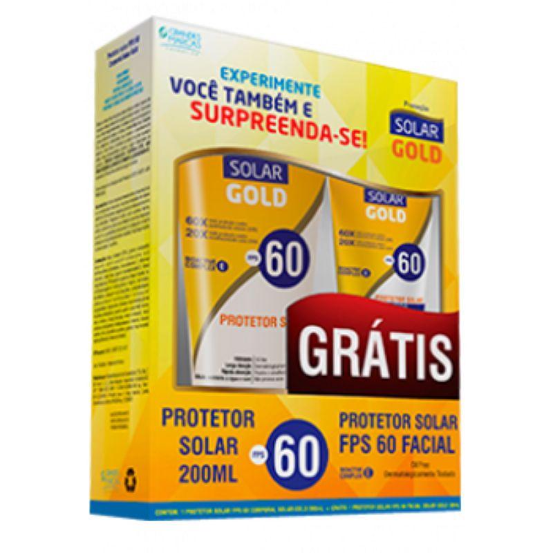 Kit Protetor Solar Corporal e Facial FPS60 Solar Gold