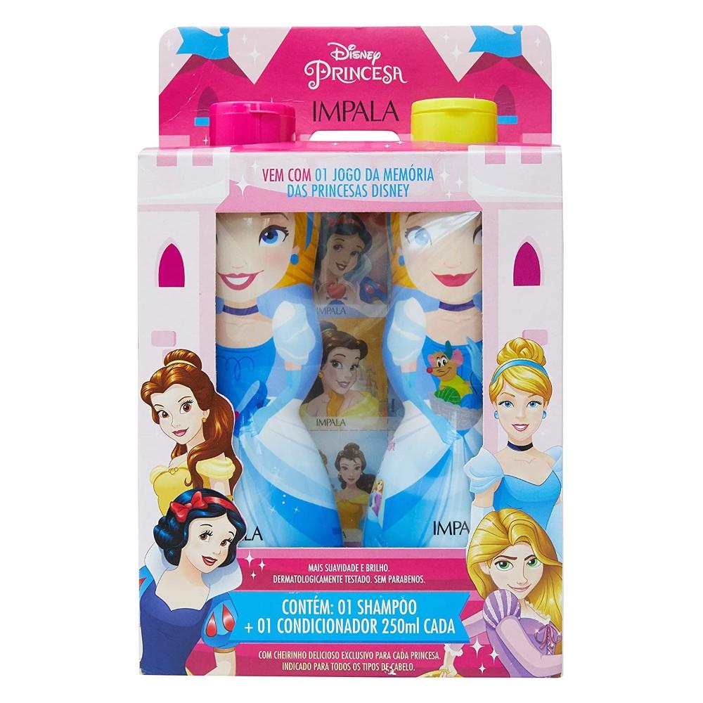 Kit Shampoo e Cond. Princesa Cinderela Grátis Adesivos