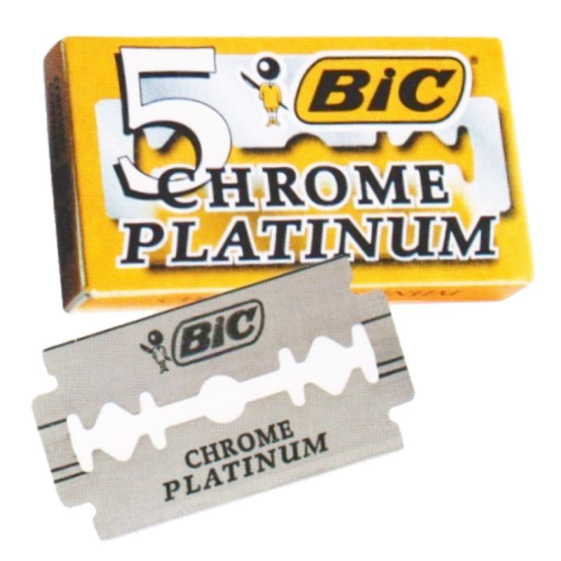 Lâmina Bic Chrome Platinum 5un