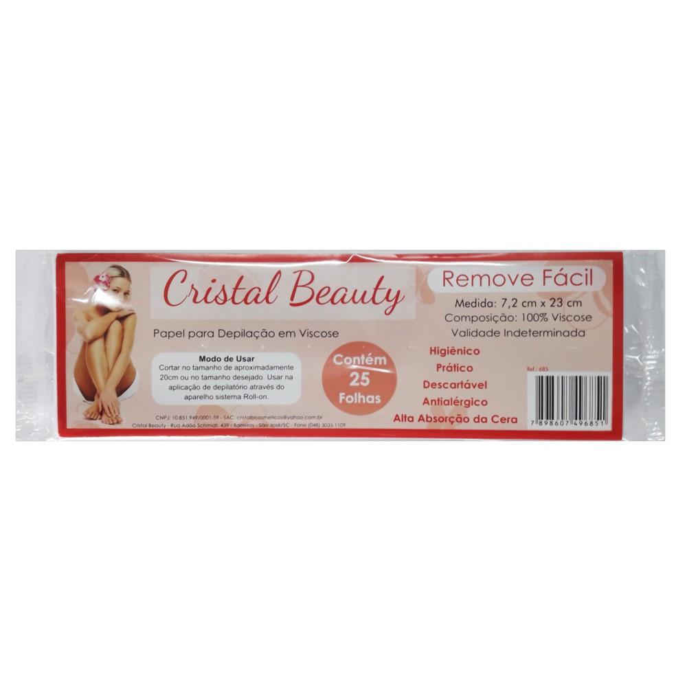 Lenço para Depilação Cristal Beauty 25 Folhas Viscose