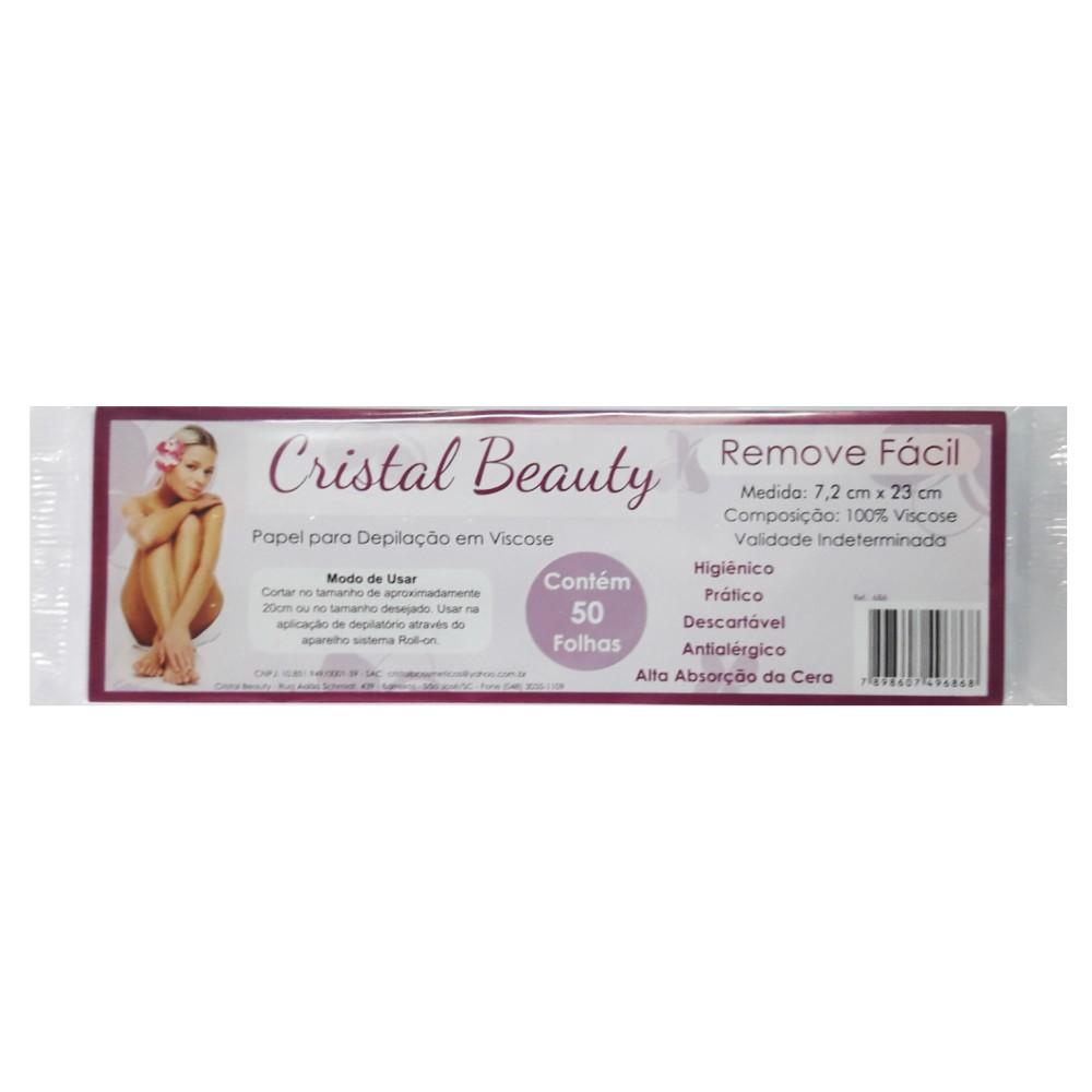 Lenço para Depilação Cristal Beauty 50 Folhas Viscose