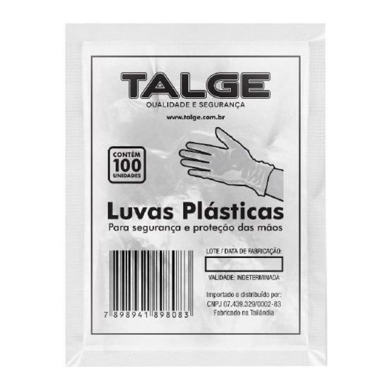 Luva Plastica Talge 100un