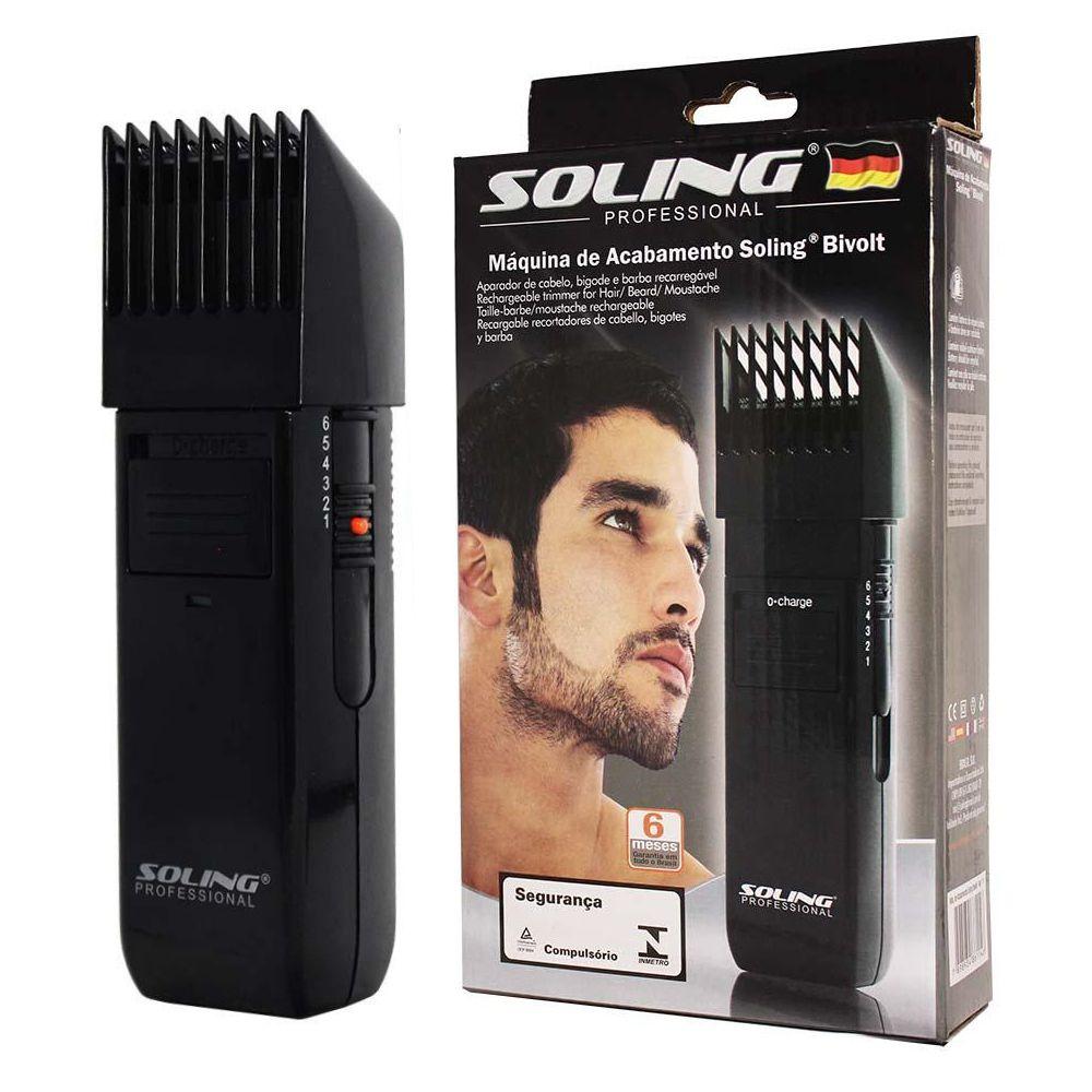 Máquina de Acabamento e Aparador de Barba Soling Bivolt