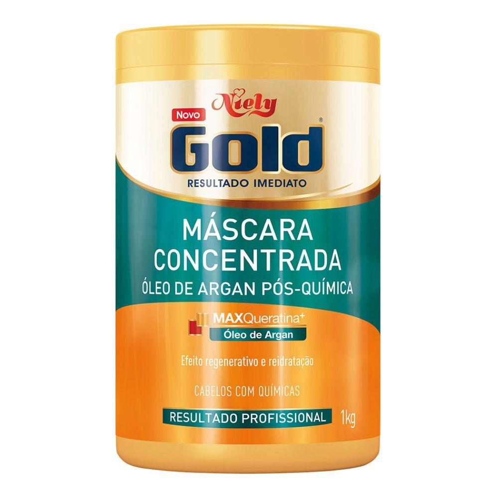 Máscara Concentrada Niely Gold Óleo de Argan Pós Química 1kg