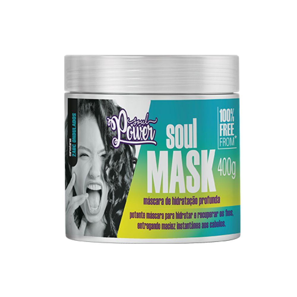 Máscara de Hidratação Profunda Soul Power Soul Mask 400g  - Sofí Cosméticos