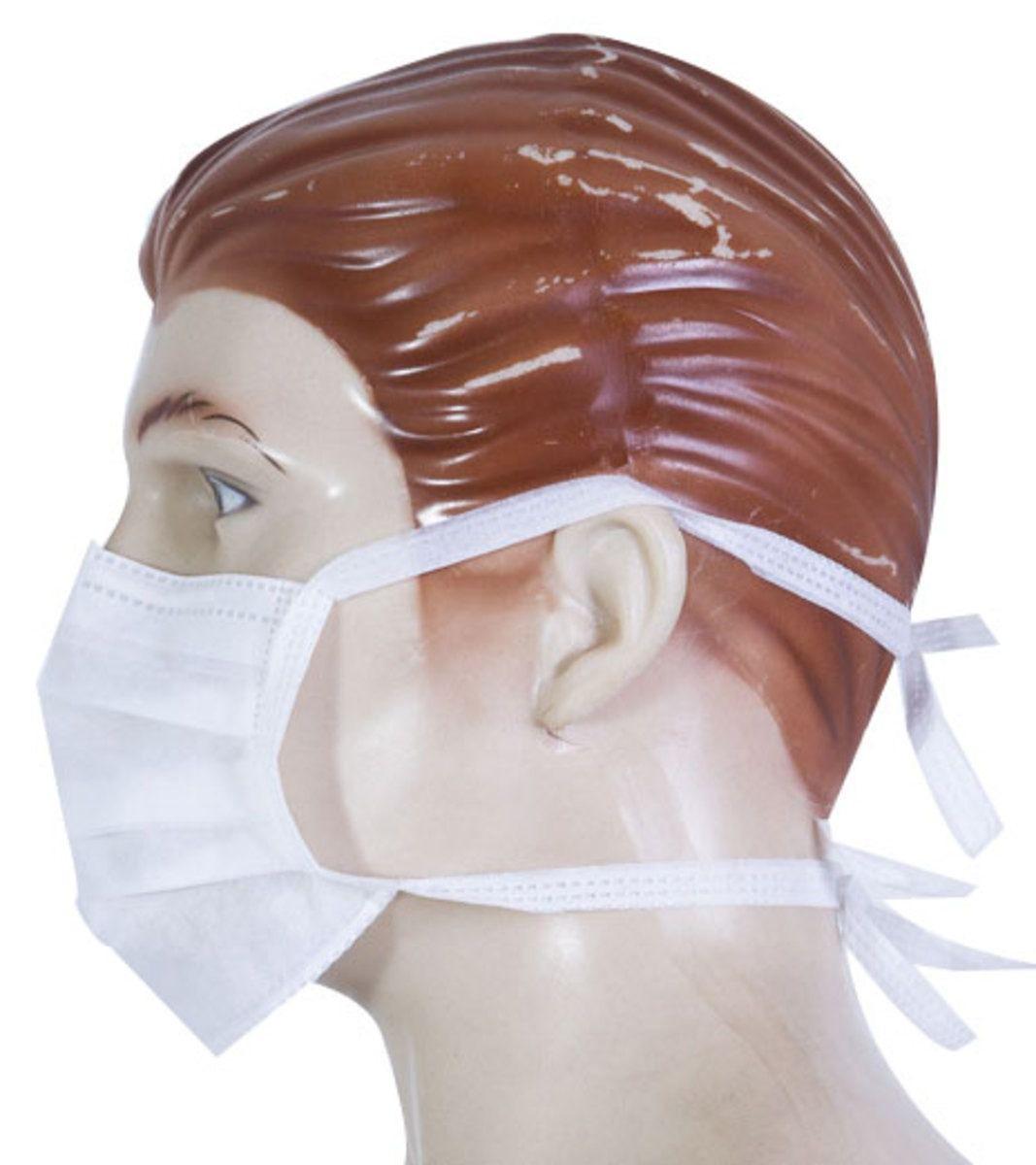 Mascara Dupla c/ Tiras e clip Nasal 25 Unid Higipratic
