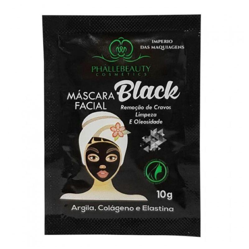 Máscara Facial Black Phallebeauty Sachê 10g