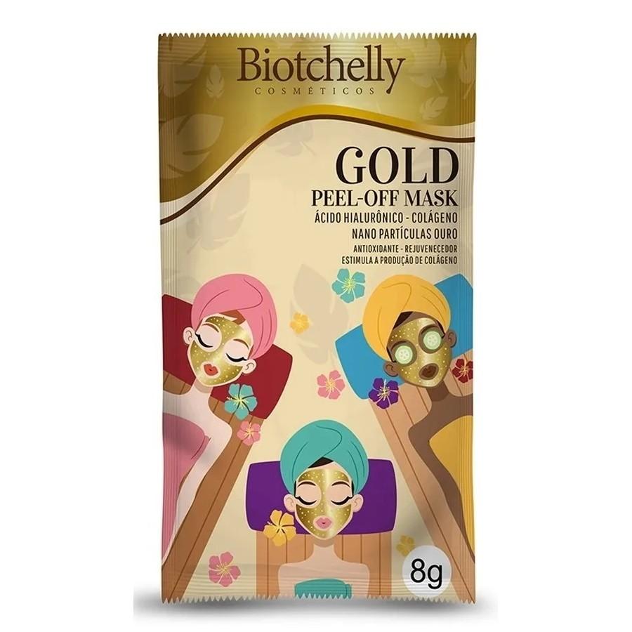 Máscara Facial Gold Biotchelly Sachê 8g
