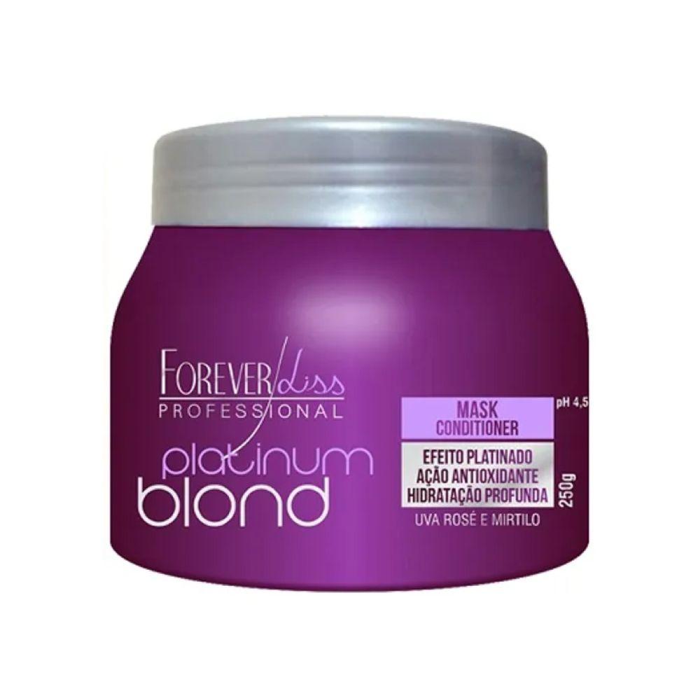 Máscara Matizadora Forever Liss Platinum Blond 250gr