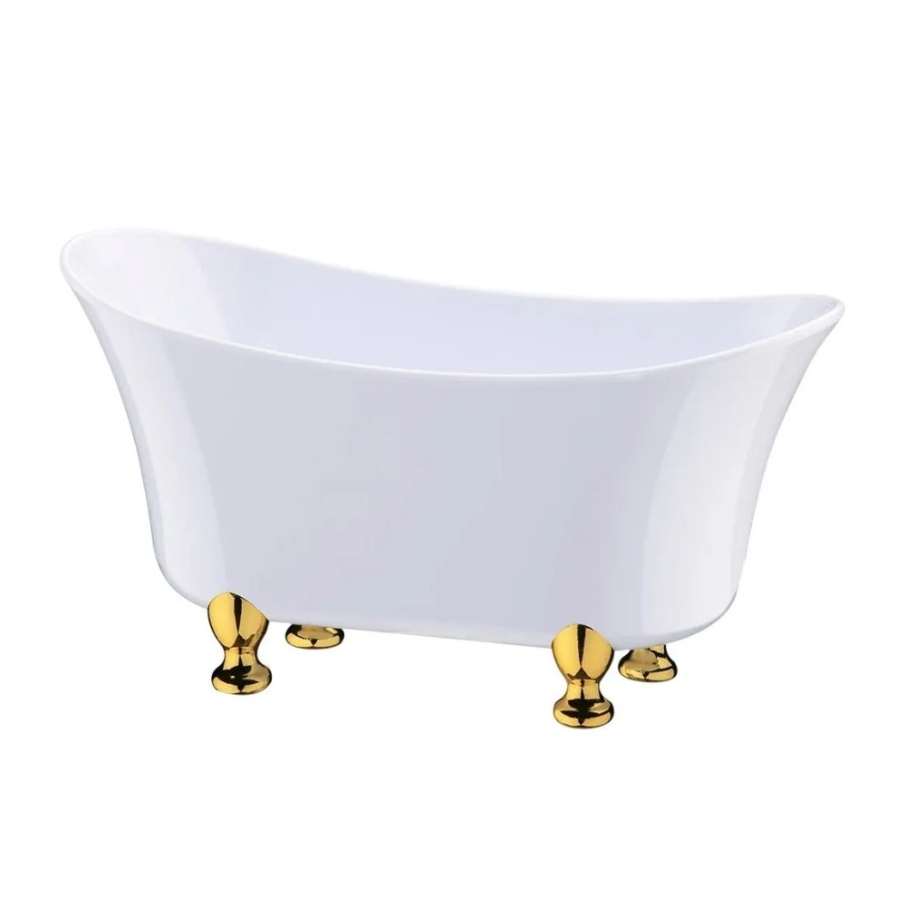 Organizador Mini Banheira Branca 19x9x7cm Porta Maquiagem/Joias/Treco