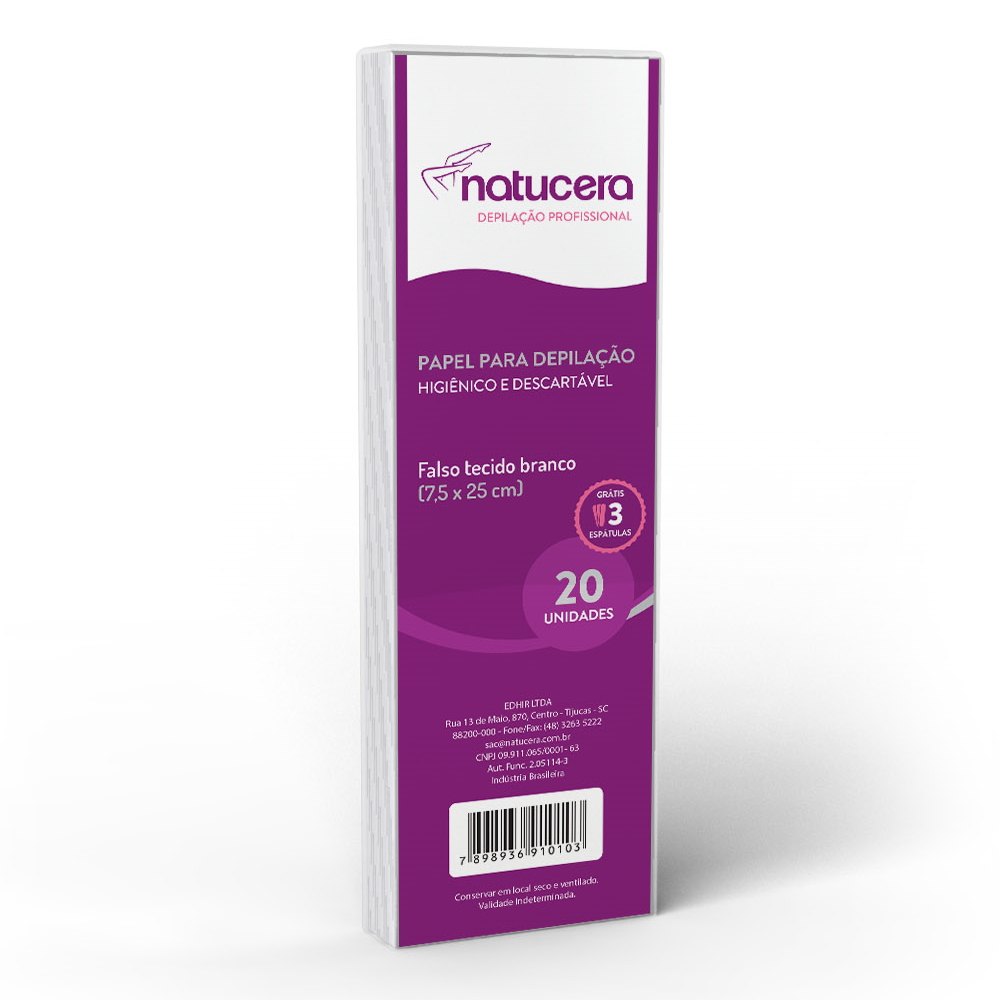 Papel para Depilação Natucera 25 Folhas 7.5x25cm