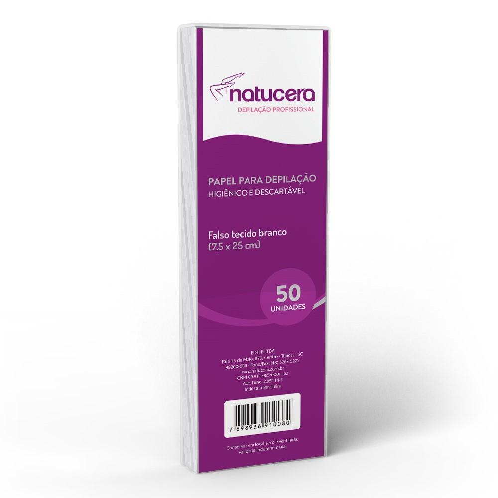 Papel para Depilação Natucera 50 Folhas 7.5x25cm