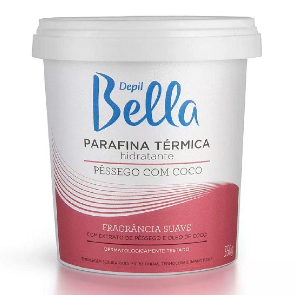 Parafina Térmica Hidratante Depil Bella Pêssego com Coco 350g