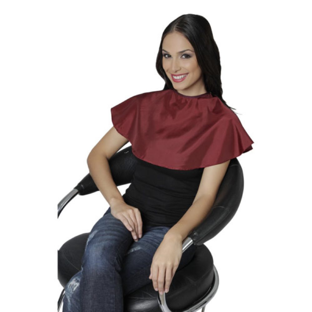 Penteador Nylon Redondo Branco com Velcro Santa Clara