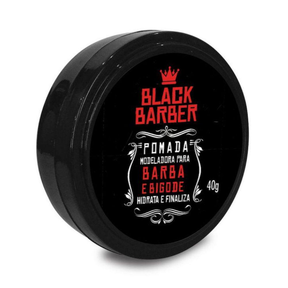 Pomada modeladora para cabelo e barba Black Barber 40g