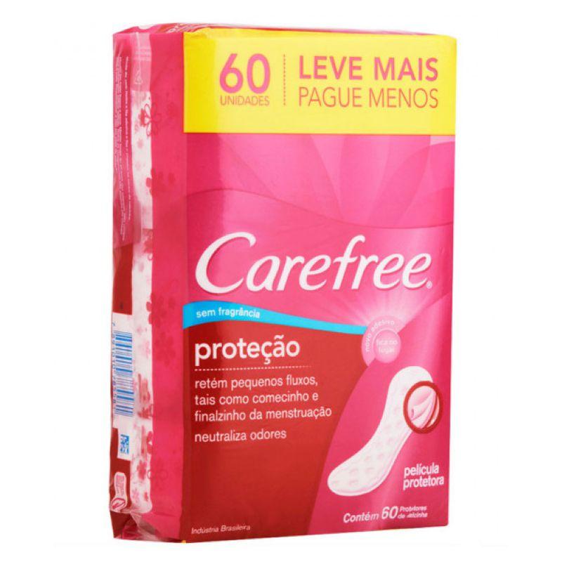 Protetor Diário Carefree Proteção 60un.