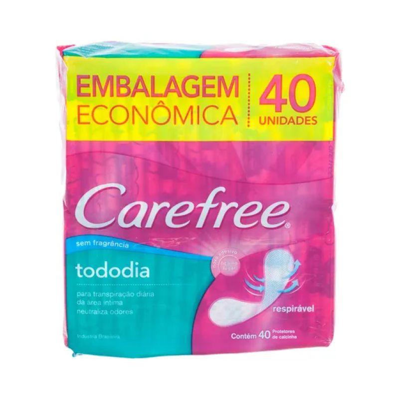 Protetor Diário Carefree Todo Dia Sem Fragrância 40un