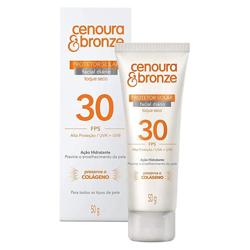 Protetor Solar Cenoura & Bronze Facial FPS30 50g  - Sofí Cosméticos
