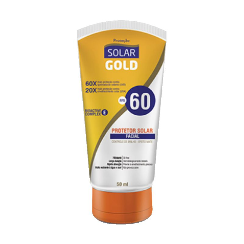 Protetor Solar Facial FPS60 Solar Gold 50ml
