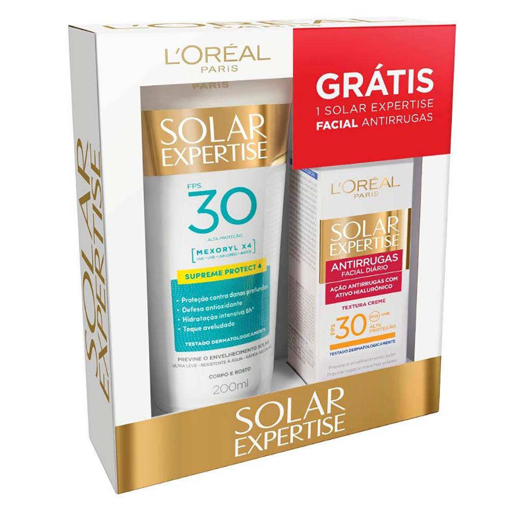 Protetor Solar Loreal Fps30 Grátis Facial Fps30