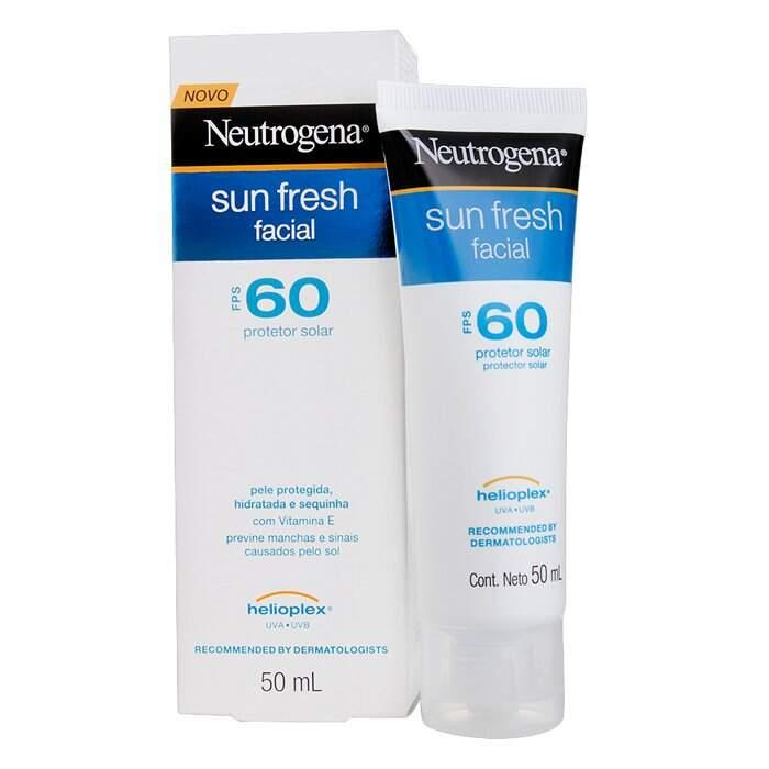 Protetor Solar Neutrogena Sun Fresh Facial FPS 60 50ml