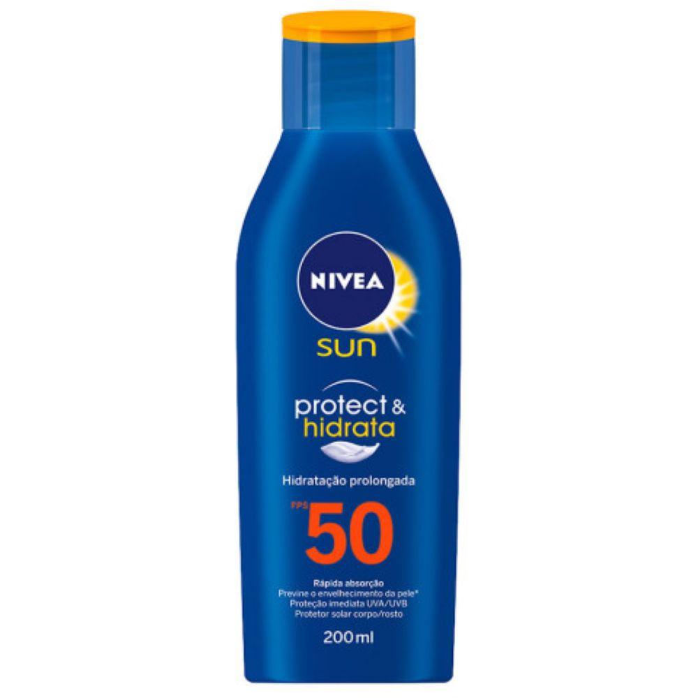 Protetor Solar Nivea Sun FPS 50 Protect & Hidrata 200ml