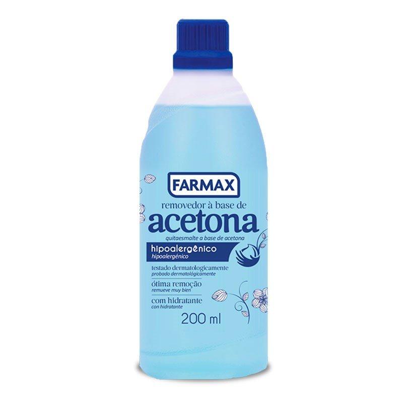 Removedor de Esmaltes Acetona Farmax 200ml