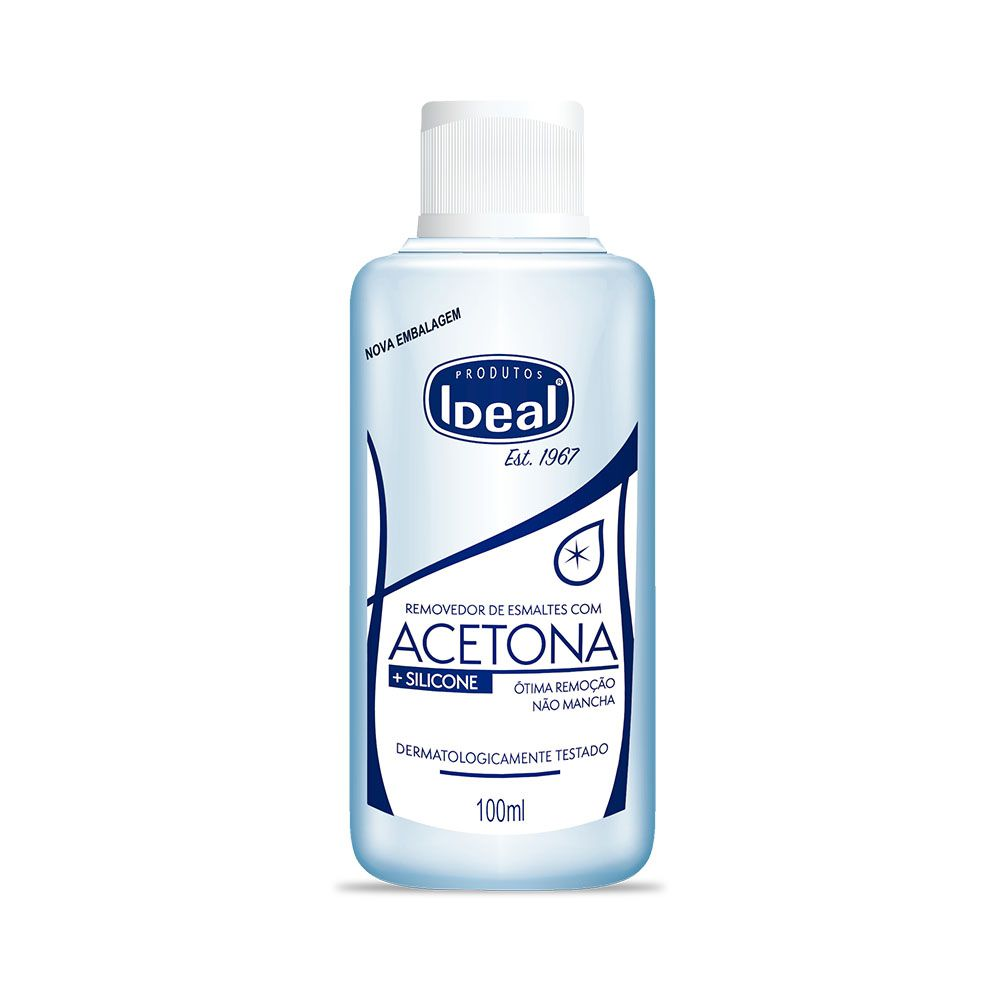 Removedor de Esmaltes Acetona Ideal 100ml