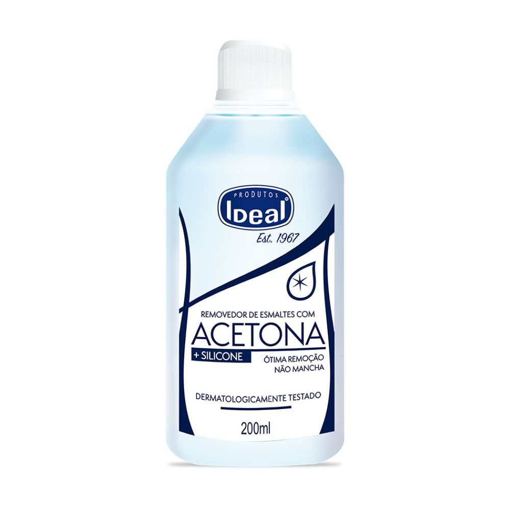 Removedor de Esmaltes Acetona Ideal 200ml