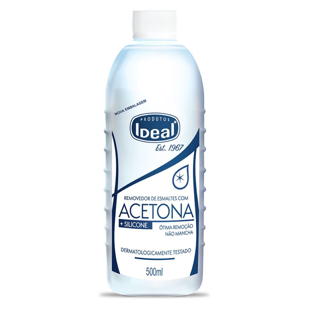 Removedor de Esmaltes Acetona Ideal 500ml