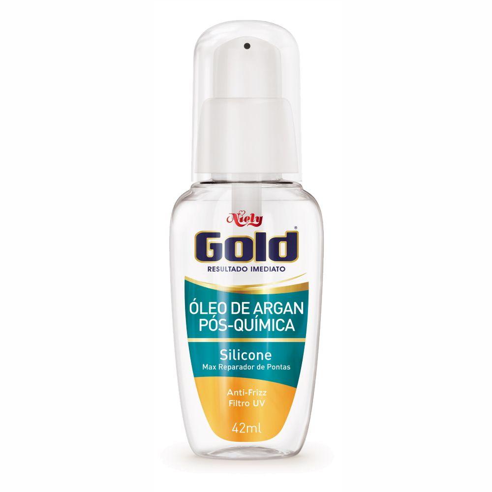 Reparador de Pontas Niely Gold Óleo de Argan Pós Química 42ml