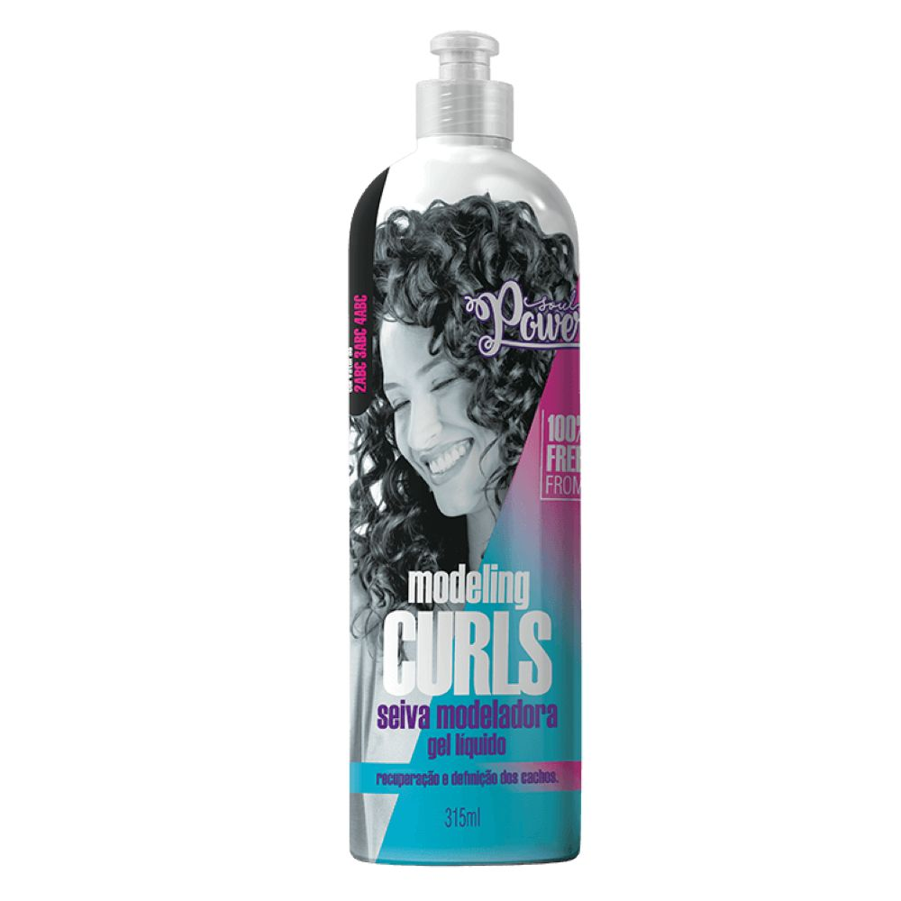 Seiva Modeladora Gel Líquido Soul Power Modeling Curls 315ml