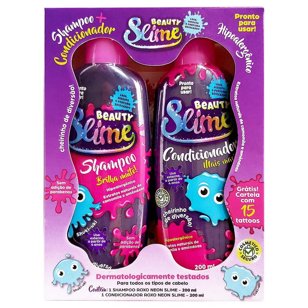 Shampoo + Condicionador Beauty Slime Roxo Neon