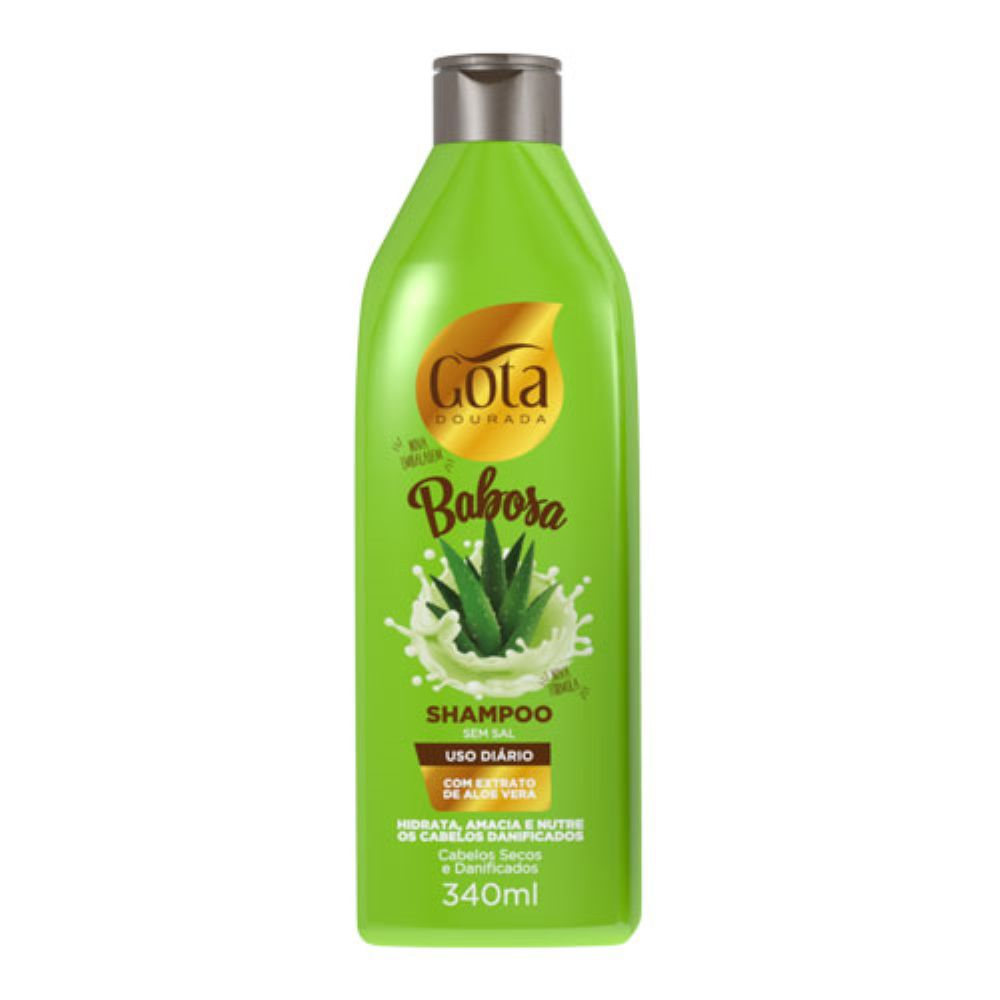 Shampoo Gota Dourada Babosa 340ml
