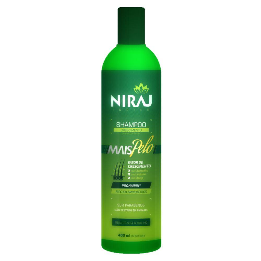 Shampoo Mais Pelo Niraj Crescimento 400ml