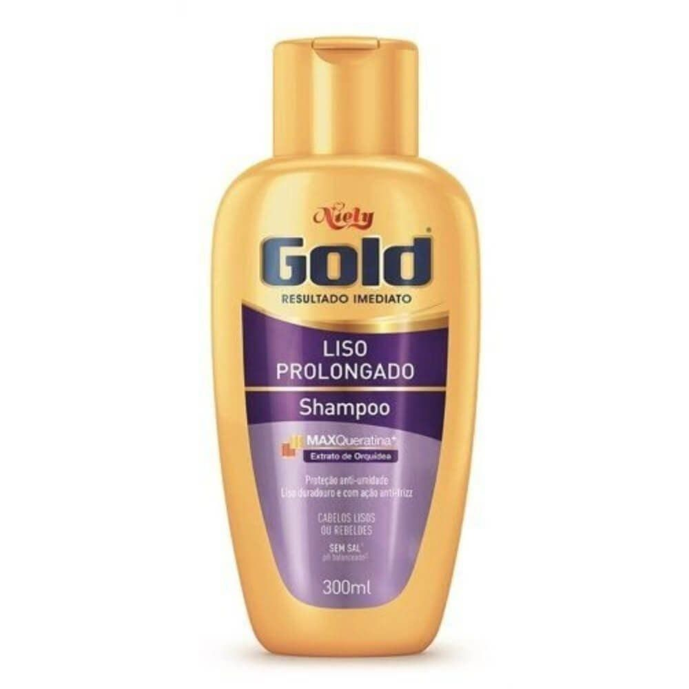 Shampoo Niely Gold Liso Prolongado 300ml