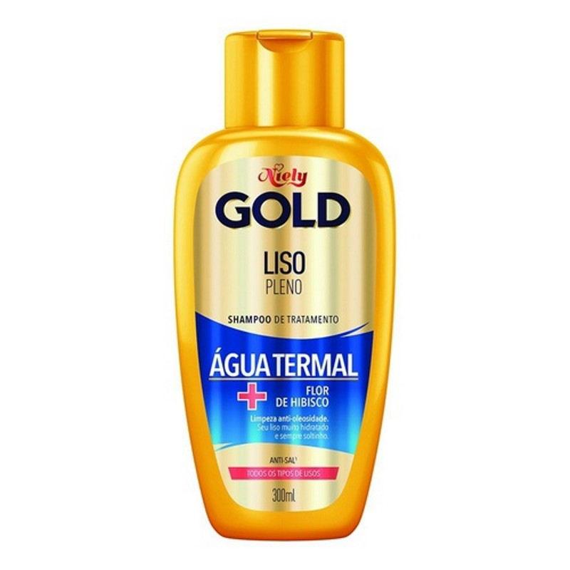 Shampoo Niely Gold Liso Pleno 300ml