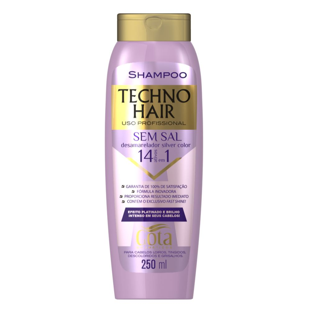 Shampoo Techno Hair Desamarelador Silver Color 250ml