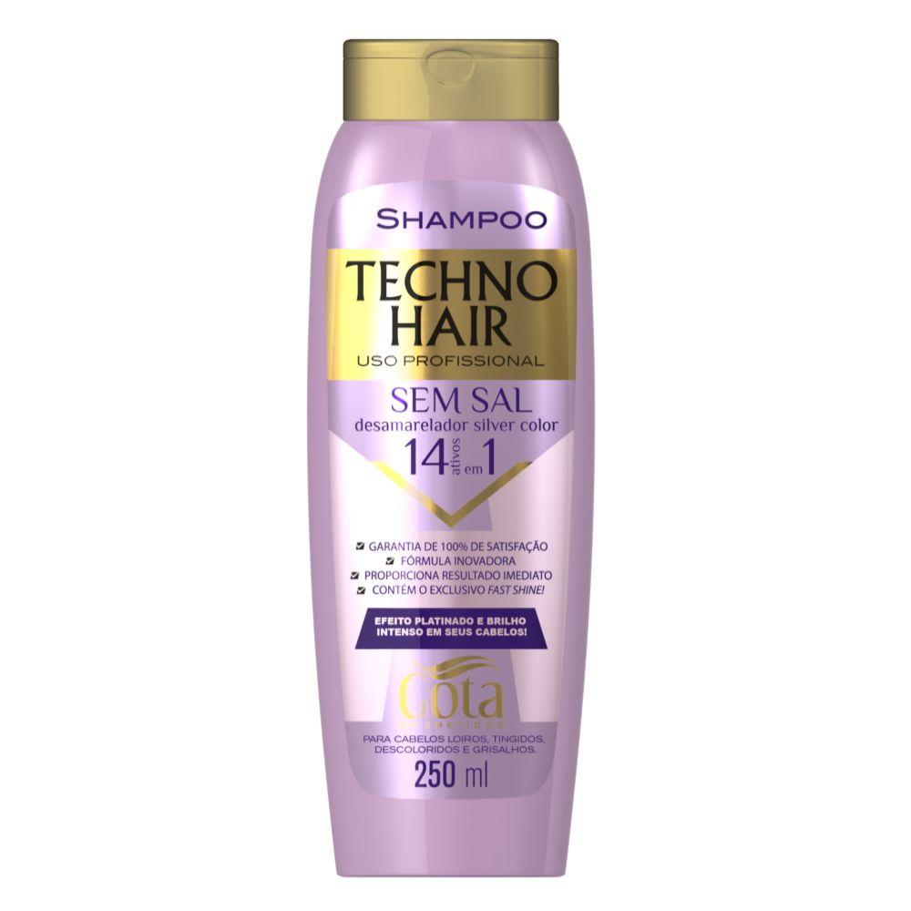 Shampoo Techno Hair Desamarelador Silver Color 250ml