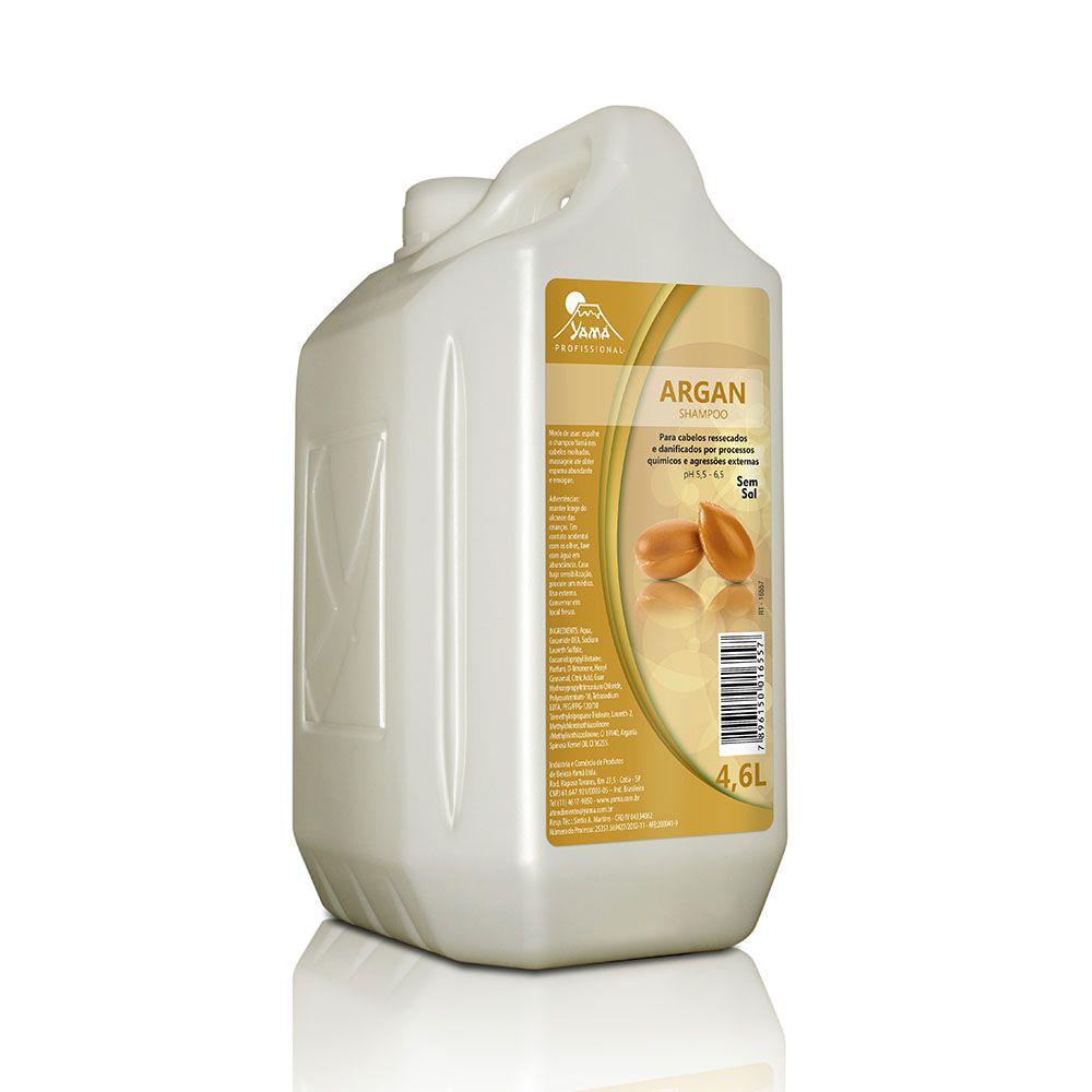 Shampoo Yamá Sem Sal Argan Galão 4,6L