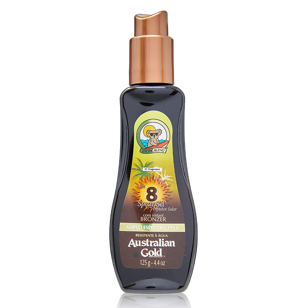 Spray Gel Australian Gold com Instant Bronzer FPS8