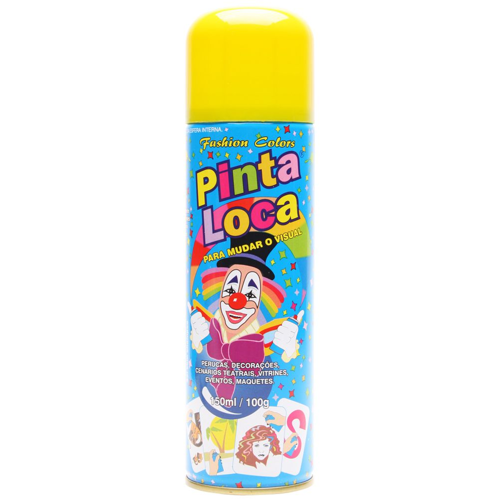 Spray Pinta Loca Amarelo 150ml