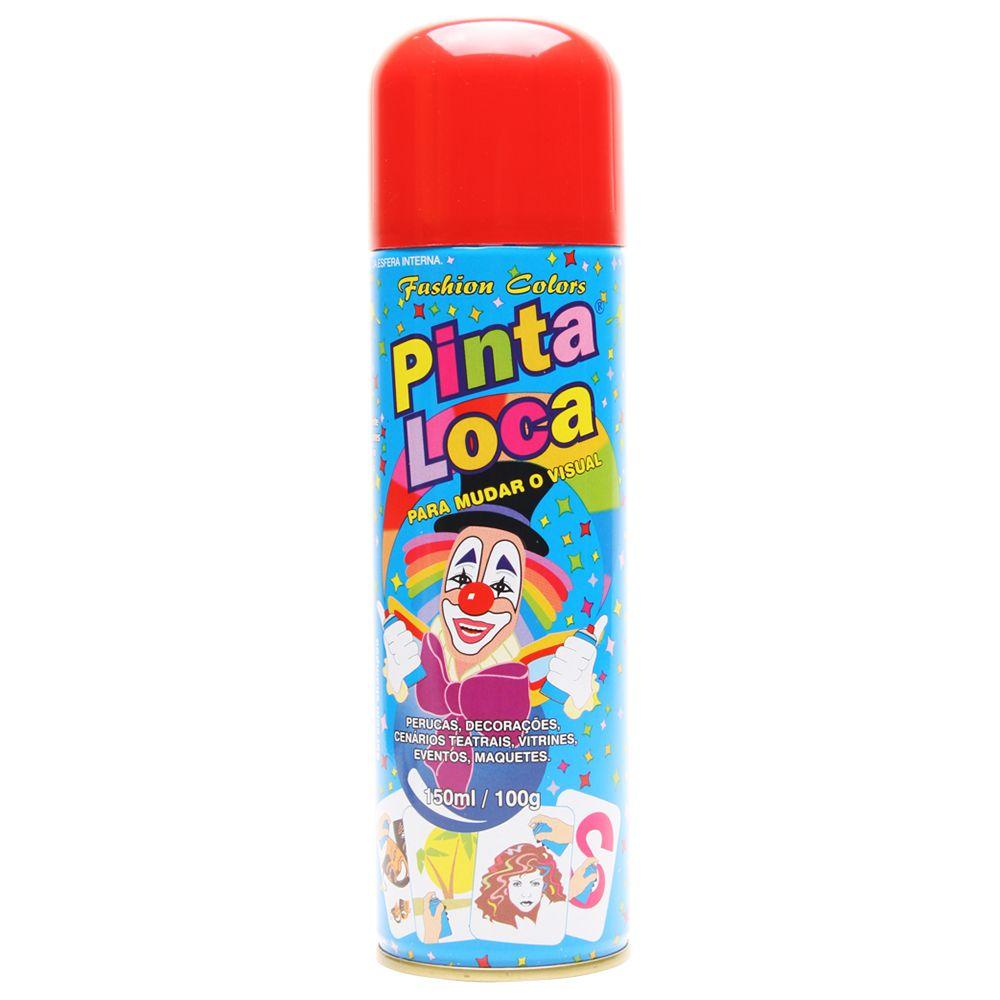 Spray Pinta Loca Vermelho 150ml