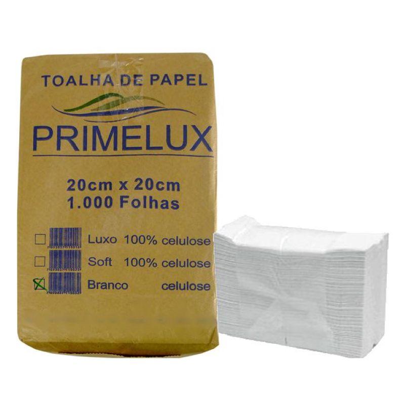 Toalha de Papel Primelux 21x20cm 1000 folhas Branca