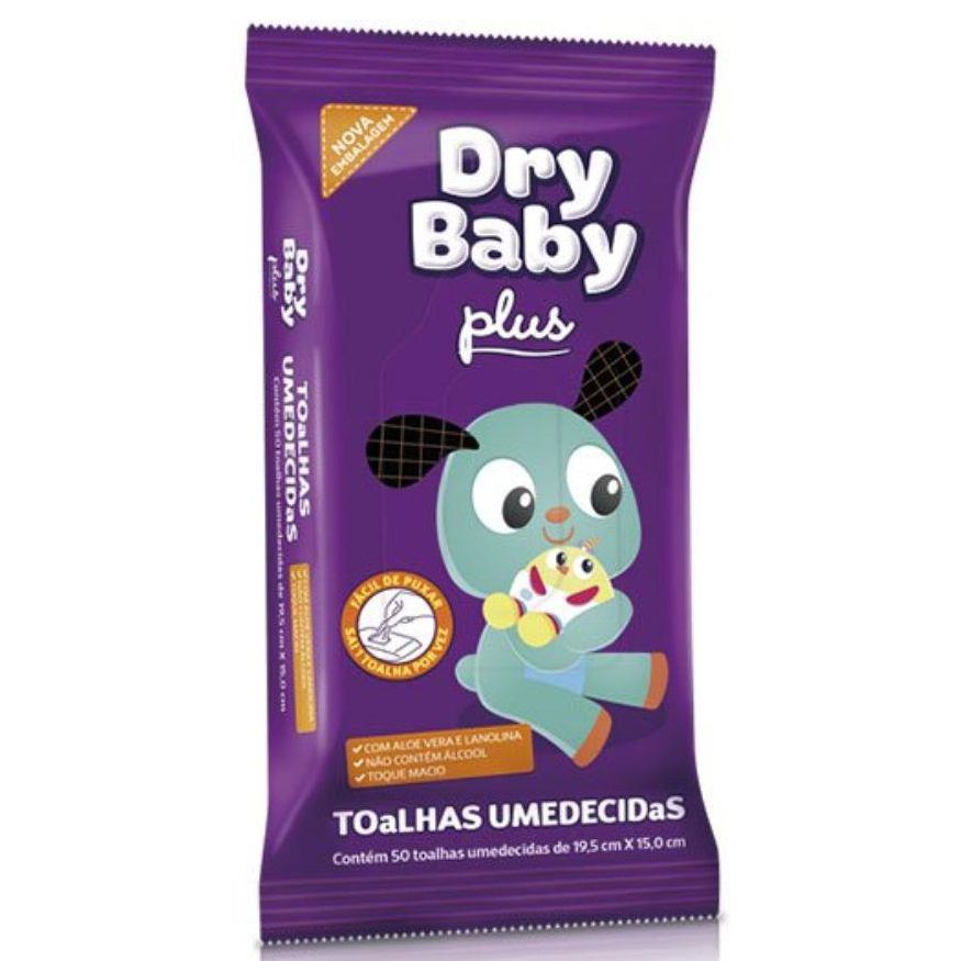 Toalha Umedecida Dry Baby Plus 50un