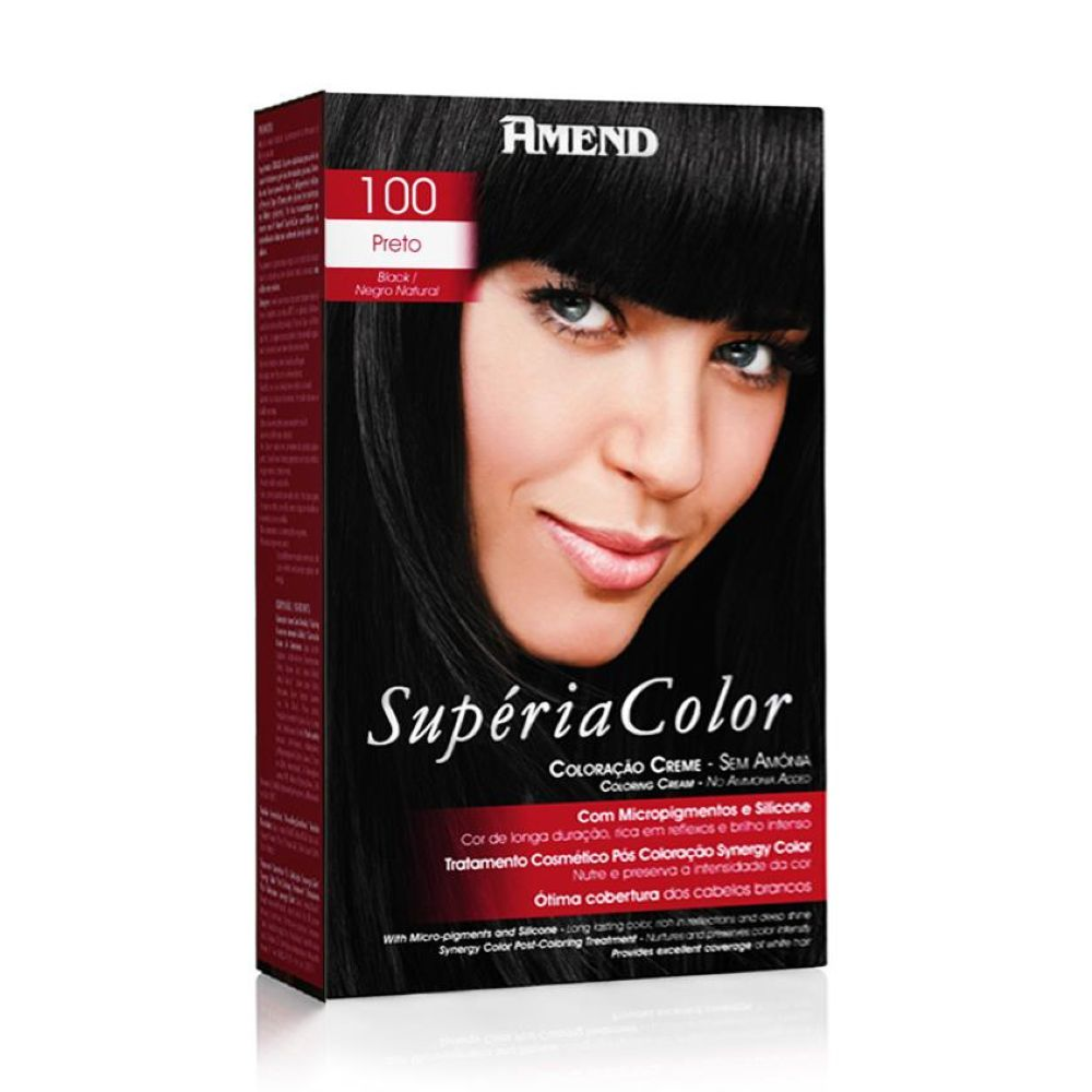 Tonalizante Amend Supéria Color Kit 100 Preto