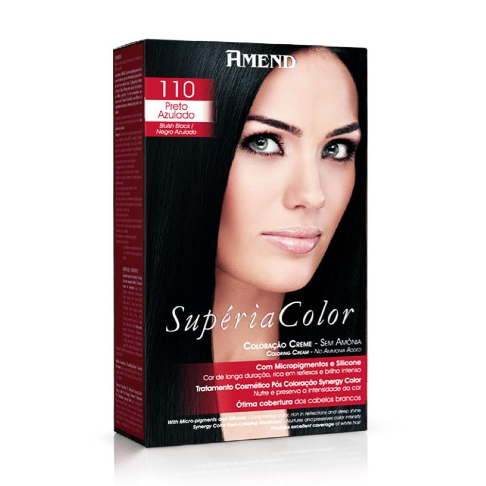 Tonalizante Amend Supéria Color Kit 110 Preto Azulado
