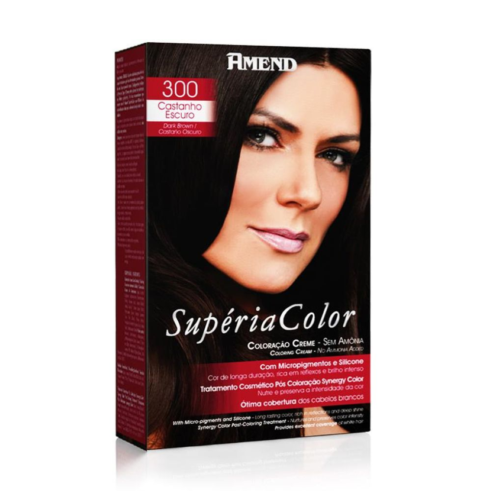 Tonalizante Amend Supéria Color Kit 300 Castanho Escuro