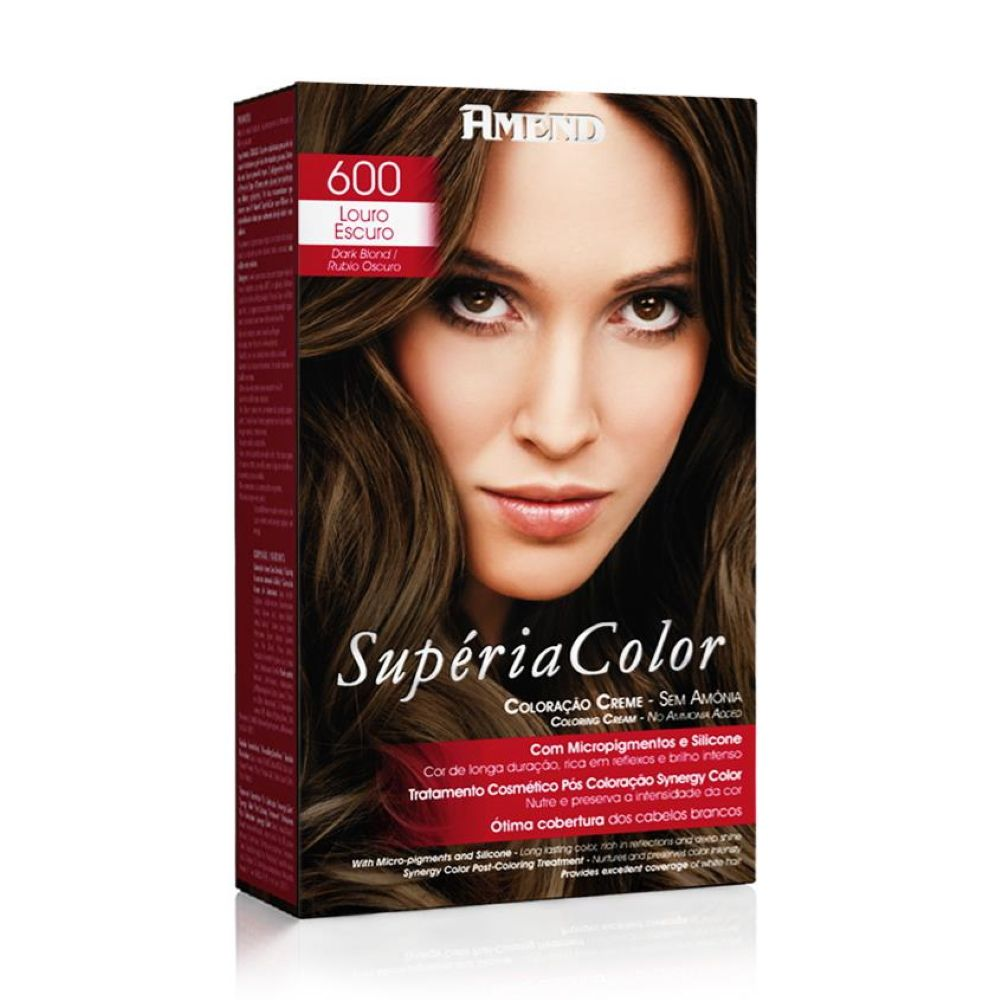 Tonalizante Amend Supéria Color Kit 600 Louro Escuro