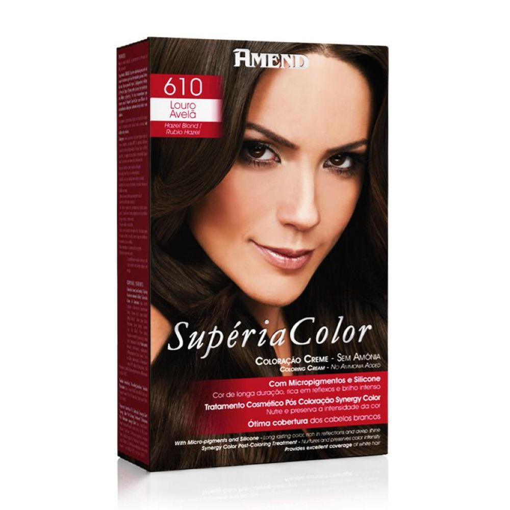 Tonalizante Amend Supéria Color Kit 610 Louro avelã